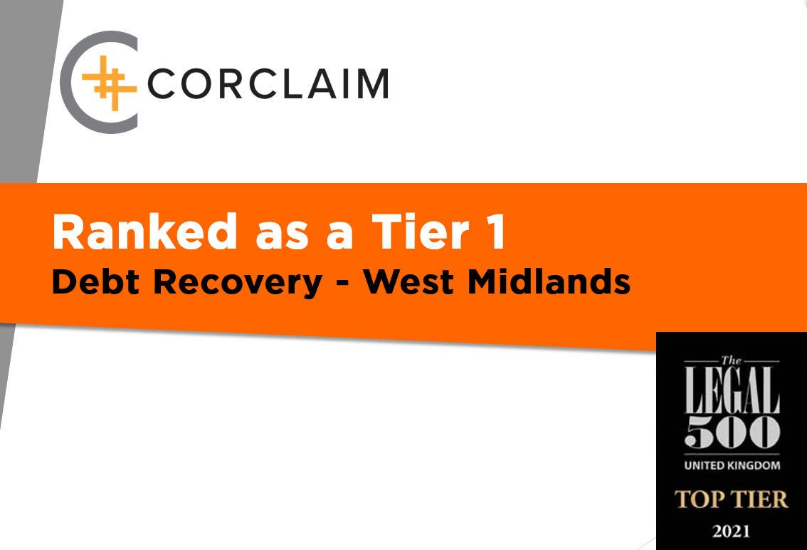 Corclaim's Debt Team Ranked Tier 1 by Legal 500